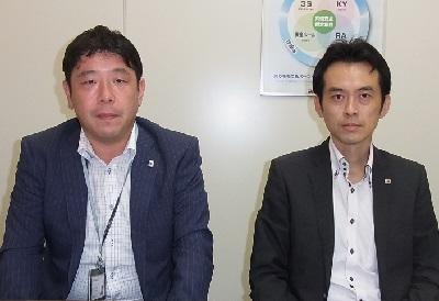 仲村生産財マーケティング本部長(左)と伊藤販売企画部長